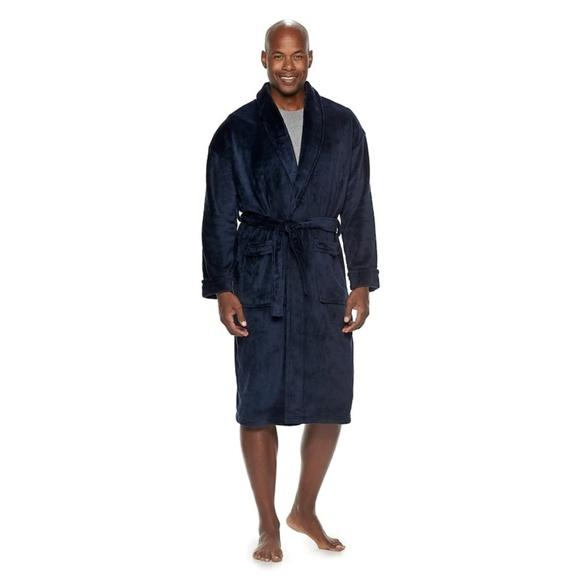 croft & barrow Other - Mens Plush Robe Admiral Navy